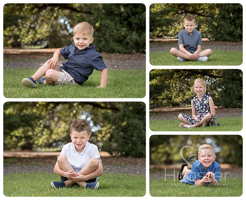 Cute Children Sitting on the Grass