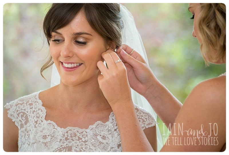 Putting the Earrings of the Bride