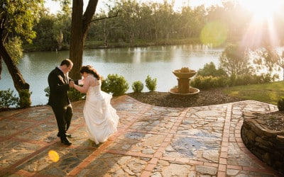 Paige and James's Trentham Estate Winery Wedding, Mildura