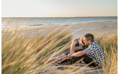 Carly and David's Chelsea Beach Engagement Session