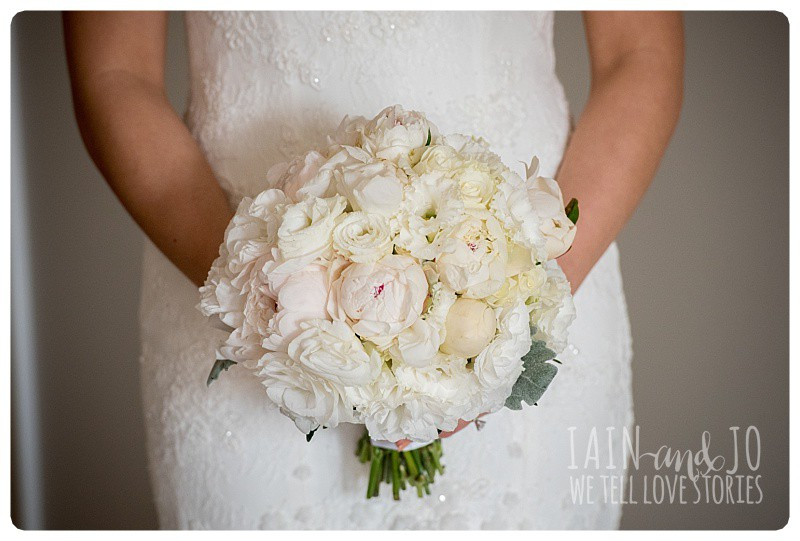 A gorgeous peonie bouquet by Levian Events