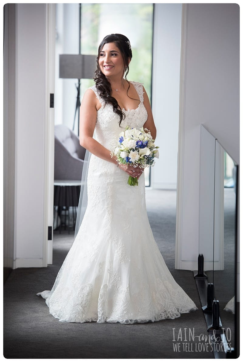 Beautiful Bride in Wedding Gown