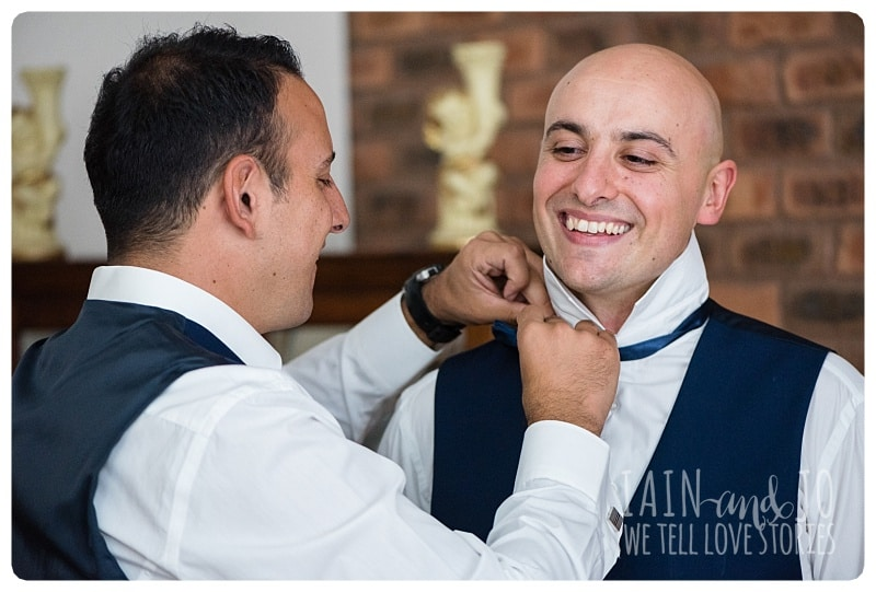 Preparation of the Groom