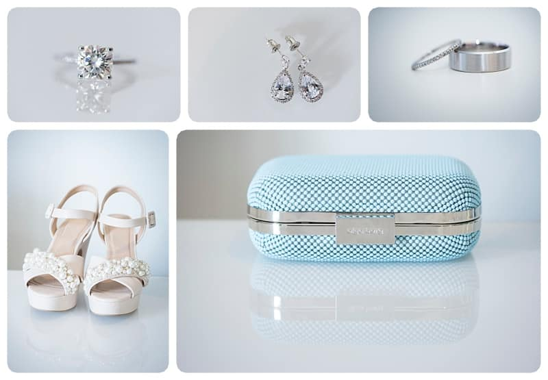 Bride's Rings, Earrings, Shoes and Purse