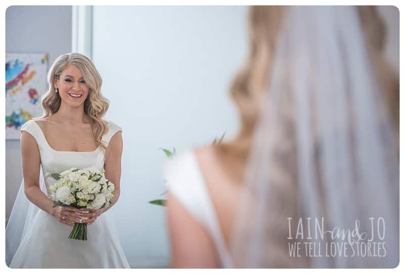 Beautiful Bride In Front of the Mirror
