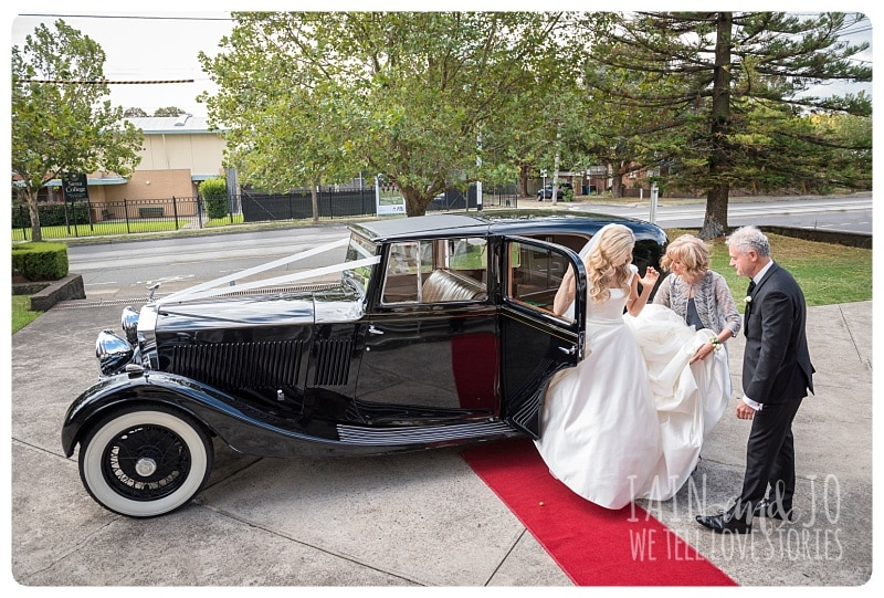 Bride Stepping Out Of The Bridal Car