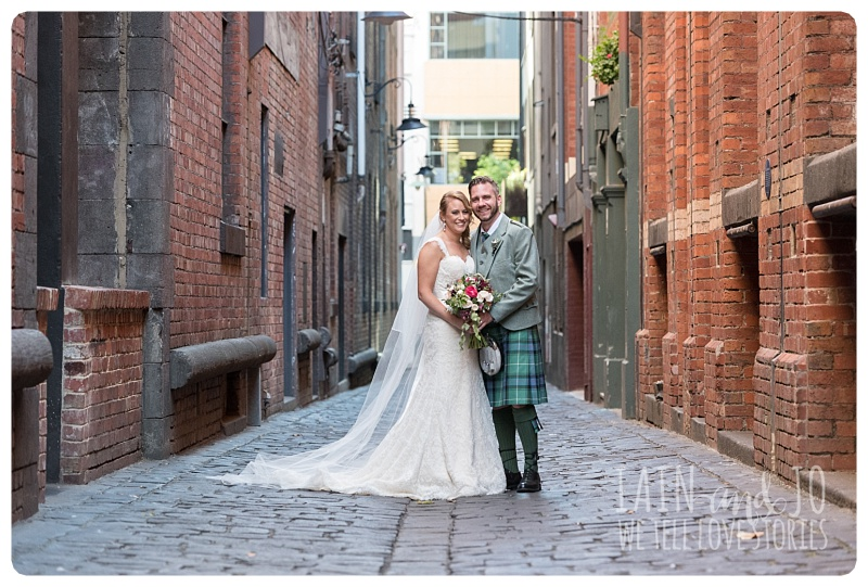 Groom and Bride at the Laneways