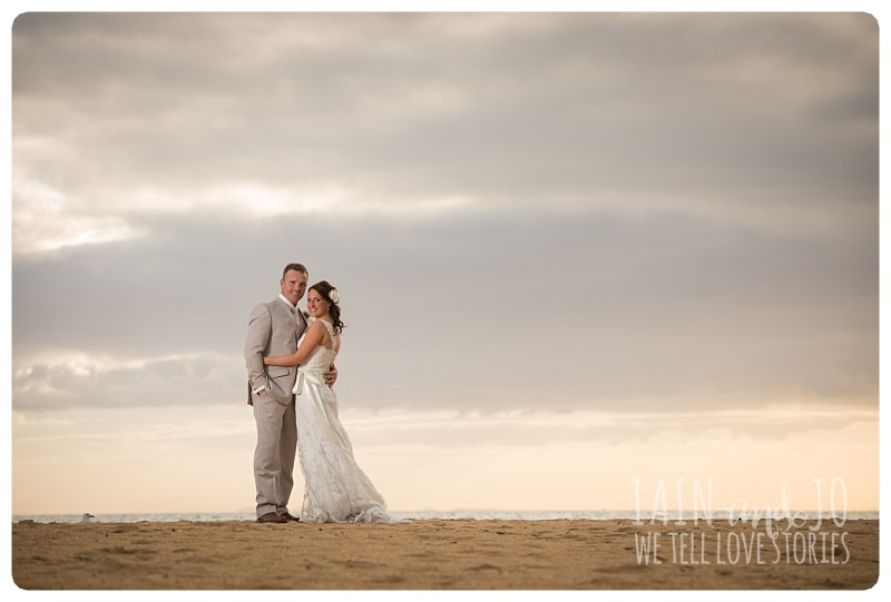 Bride and Groom at the beach near doyles bridge