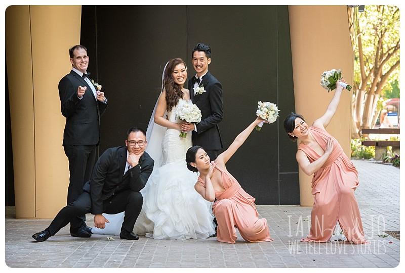 Posing bridal party