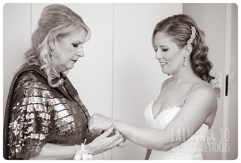 Mum puts bride's bracelet