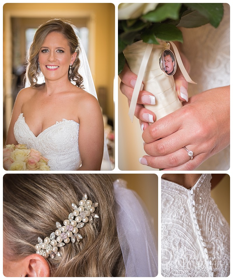 Tight shots of bride