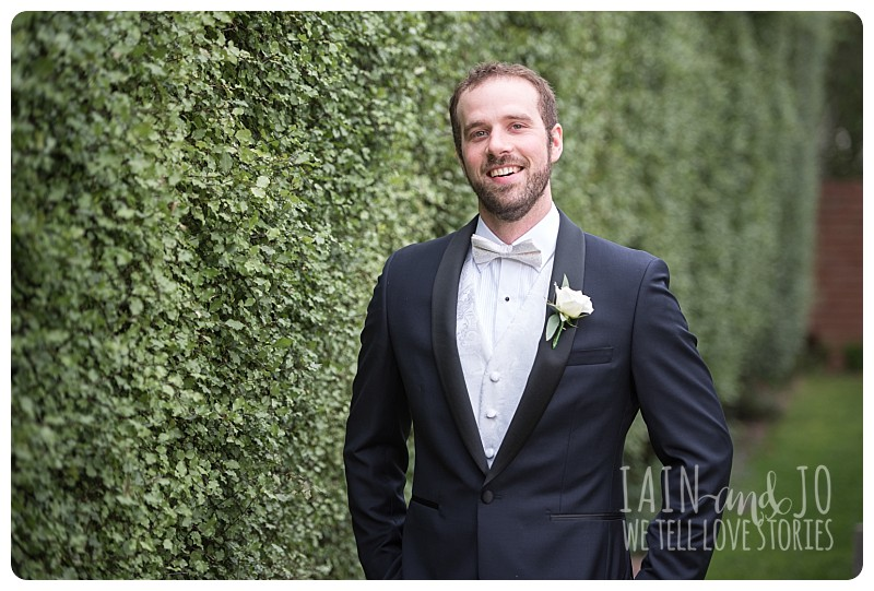 Outdoor pic of a groom