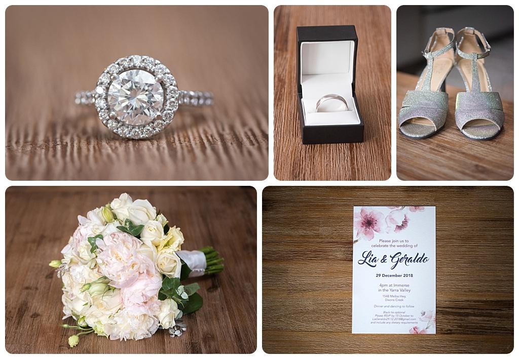 Bride's accessories