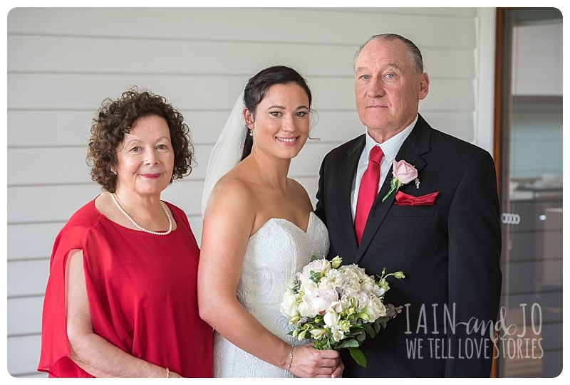 Bride with mum and dad