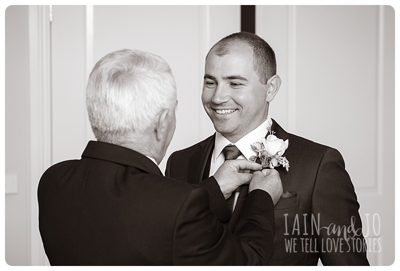 Groom with dad