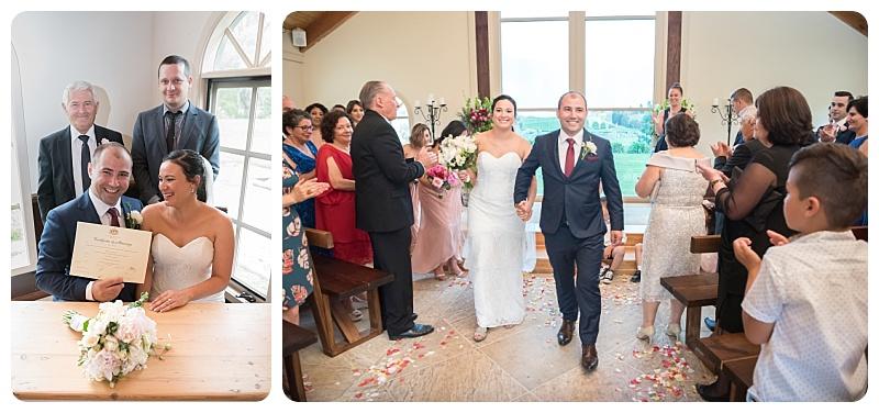 Wedding ceremony signing