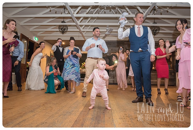 Toddler on the dance floor
