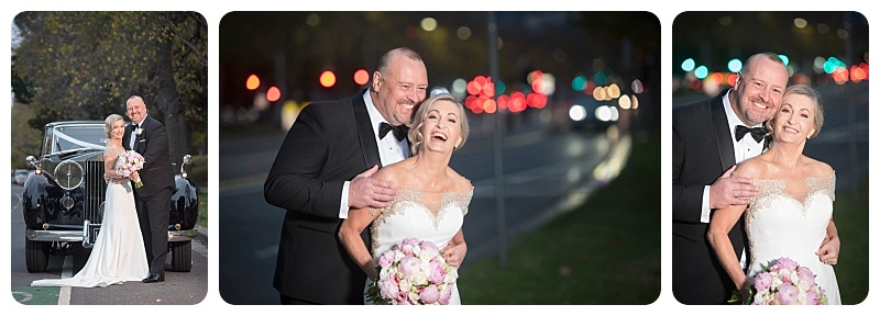 Laughing wedding photos